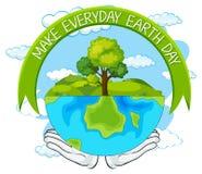 做每天地球日 皇族释放例证