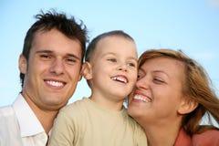 做父母儿子 免版税库存照片