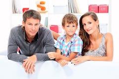 做父母儿子 免版税库存图片