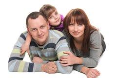 做父母和爱 免版税库存照片