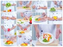 做甜椒沙拉 免版税库存图片