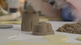 做用手的沙子城堡 股票录像