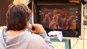 做电影的印地安电影工作人员 影视素材