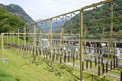 做电的发电站由一个水力发电厂 库存照片