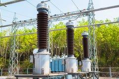 做电能的发电站 免版税库存图片
