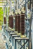 做电能的发电站 免版税图库摄影