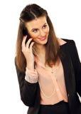 做电话的女实业家 免版税图库摄影