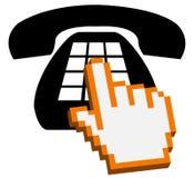 做电话符号的购买权 库存例证