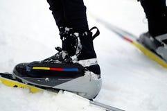做的启动skiiing是 库存照片