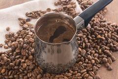 做的咖啡土耳其人 库存图片