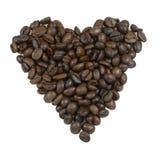 做的咖啡粒重点 免版税库存图片