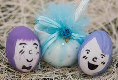 做的复活节彩蛋图象 免版税图库摄影