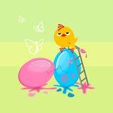 做的复活节彩蛋图象 向量例证