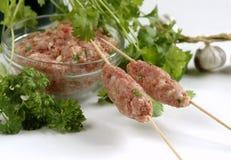做的家庭kebab 免版税库存照片