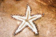 做的小的海星石头样式 免版税库存图片
