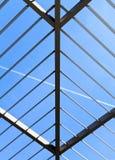 做的屋顶钢对称的三角 库存照片