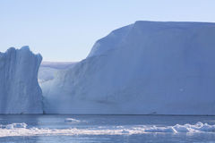 做的峡湾冰山 图库摄影