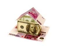 做的房子 免版税库存图片