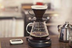 做的新鲜的咖啡成套工具 免版税库存照片