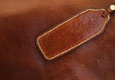 做的横幅棕色皮革 免版税库存照片