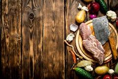 做的汤成份用牛肉 免版税库存图片