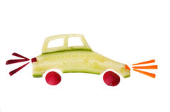 做的汽车黄瓜 库存图片