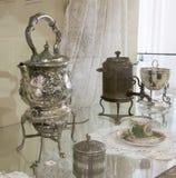 做的热水俄国式茶炊机器 库存照片