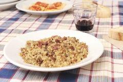 做的烹调家庭意大利语 免版税库存图片