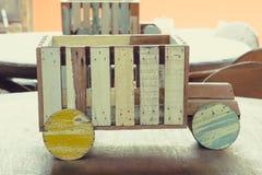 做的玩具木头 免版税库存图片