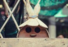 做的玩具木头 库存照片