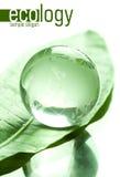 做的玻璃地球 免版税库存照片