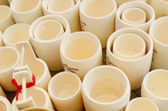 做的竹杯子 免版税库存照片