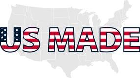 做的美国 做在美利坚合众国邮票 传染媒介邮票Il 免版税库存图片
