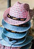 做的草手工制造帽子 图库摄影