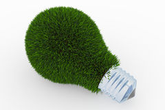 做的草绿色电灯泡 库存图片
