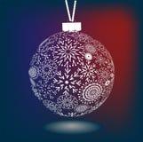 做的雪花圣诞节球  免版税库存照片