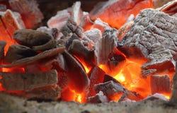 做的食物的热的木炭在背景 库存照片