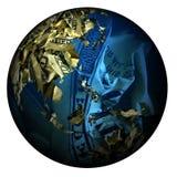 做的货币世界 免版税库存图片
