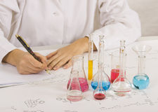 做科学家测试的实验室 图库摄影