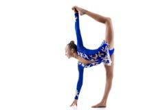 做站立的分裂的跳芭蕾舞者 免版税图库摄影