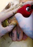 做纹身花刺 免版税库存照片