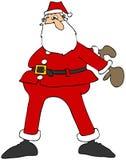 做绣花丝绒舞蹈的圣诞老人 皇族释放例证