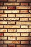 老砖墙 免版税图库摄影