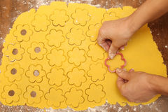 做自创曲奇饼的过程 库存照片
