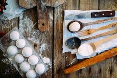 做自创的面包店,姜饼曲奇饼特写镜头 xmas swee 免版税图库摄影