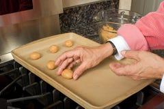 做花生的黄油曲奇饼 免版税库存图片