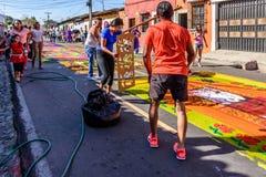 做被借的地毯,安提瓜岛,危地马拉 库存照片