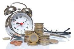 做货币时间 库存图片