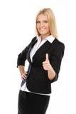 做赞许的女实业家 免版税库存照片