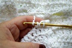 做针的钩针编织 免版税库存照片
